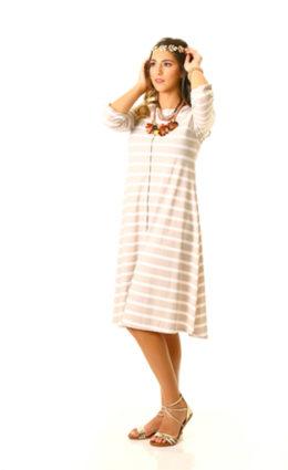 שמלת שושה – פסים אבן שמנת