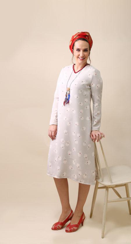 שמלת פוליאנה – פרחים אבן