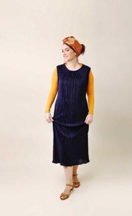 שמלת אליזבת – כחול נייבי