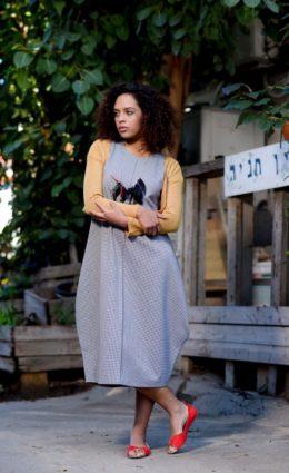 שמלת אניטה – פיפטה אפור