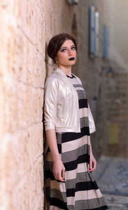 שמלת רנה – שחור אבן