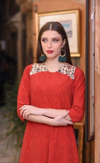 שמלת נופר - אדום