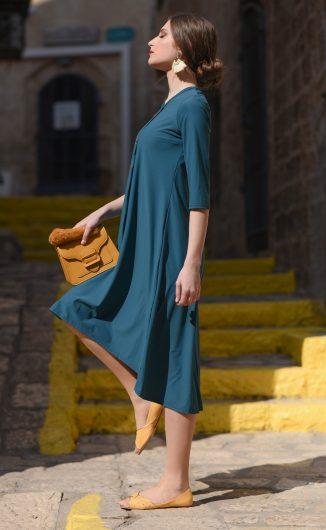 שמלת אלמוג - טורקיז