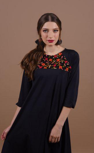 שמלת גלי - שחור