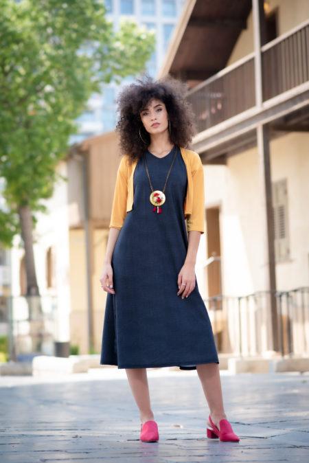 שמלת בטי – אריג שחור