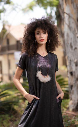 שמלת בטי לורקס - שחור