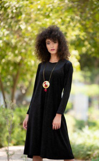 שמלת לורה - שחור