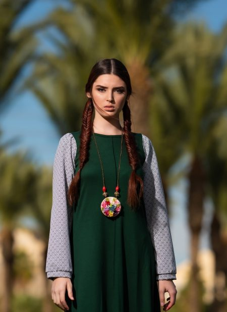 שמלת הדס – ירוק