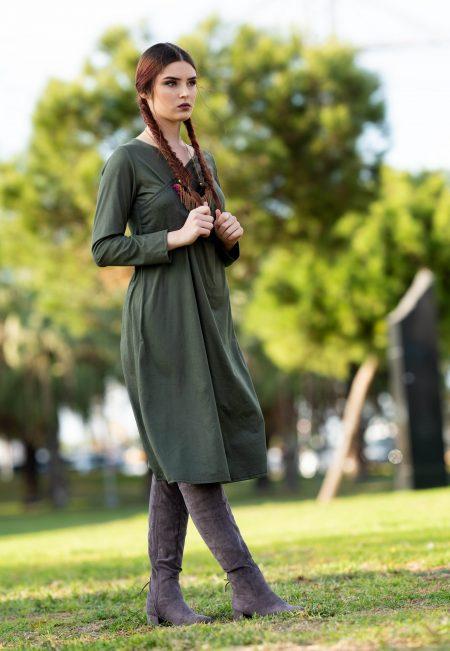 שמלת ג'סיקה – זית