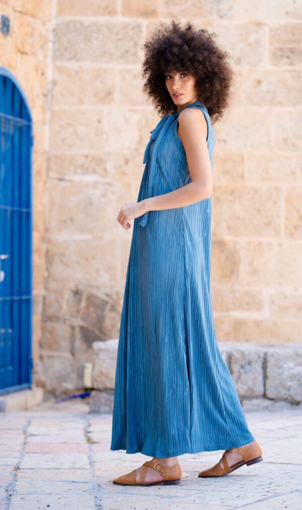 שמלת אלומה - תכלת