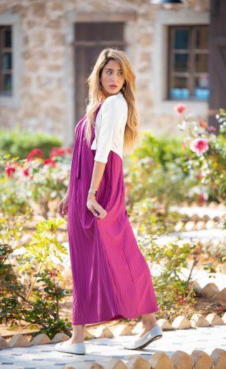 שמלת אלומה - פוקסיה