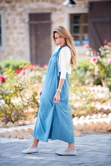 שמלת אלומה – תכלת