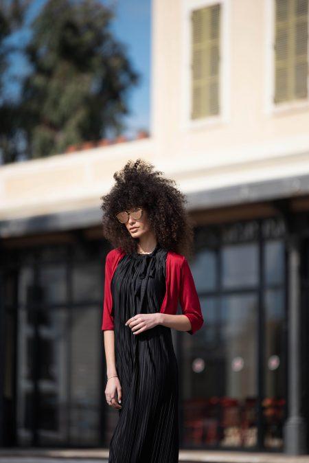 שמלת אלומה – שחור