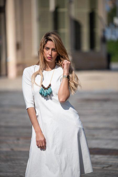 שמלת ניצן – פסים אבן