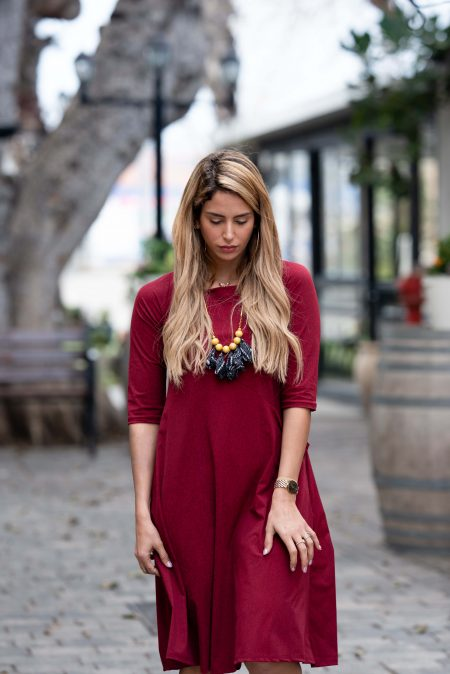 שמלת טל – בורדו
