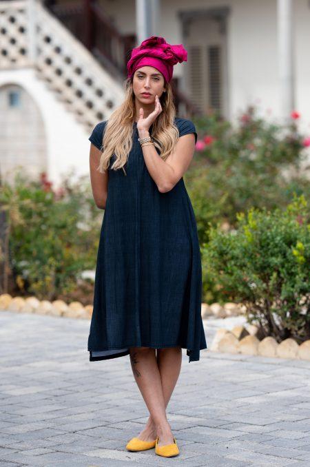 שמלת יערה – הדפס שחור