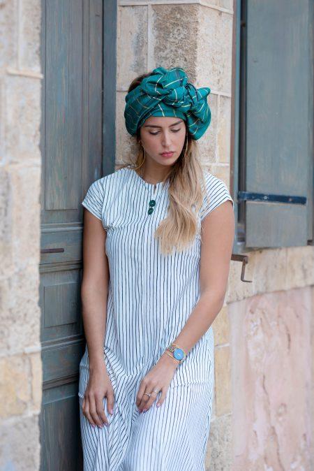 שמלת יערה – פסים שחור לבן