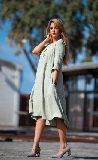 שמלת נטפים - מנטה