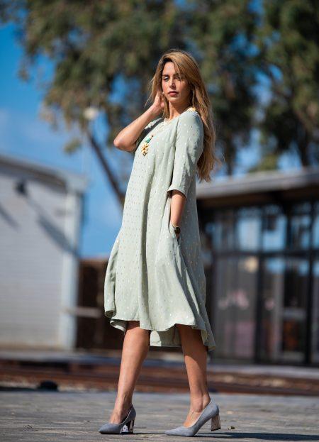 שמלת נטפים – מנטה