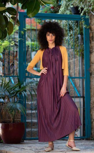 שמלת אלומה - סגול