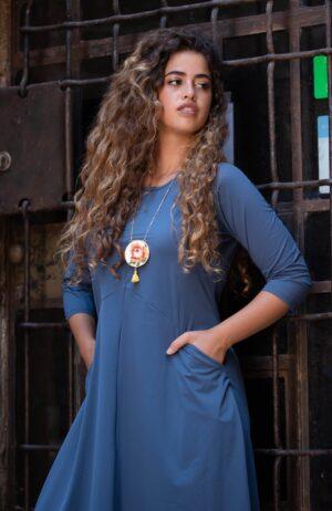 שמלת ניצן - כחול