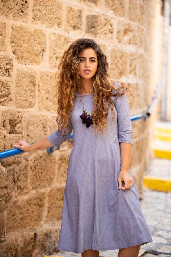 שמלת ניצן - אפור