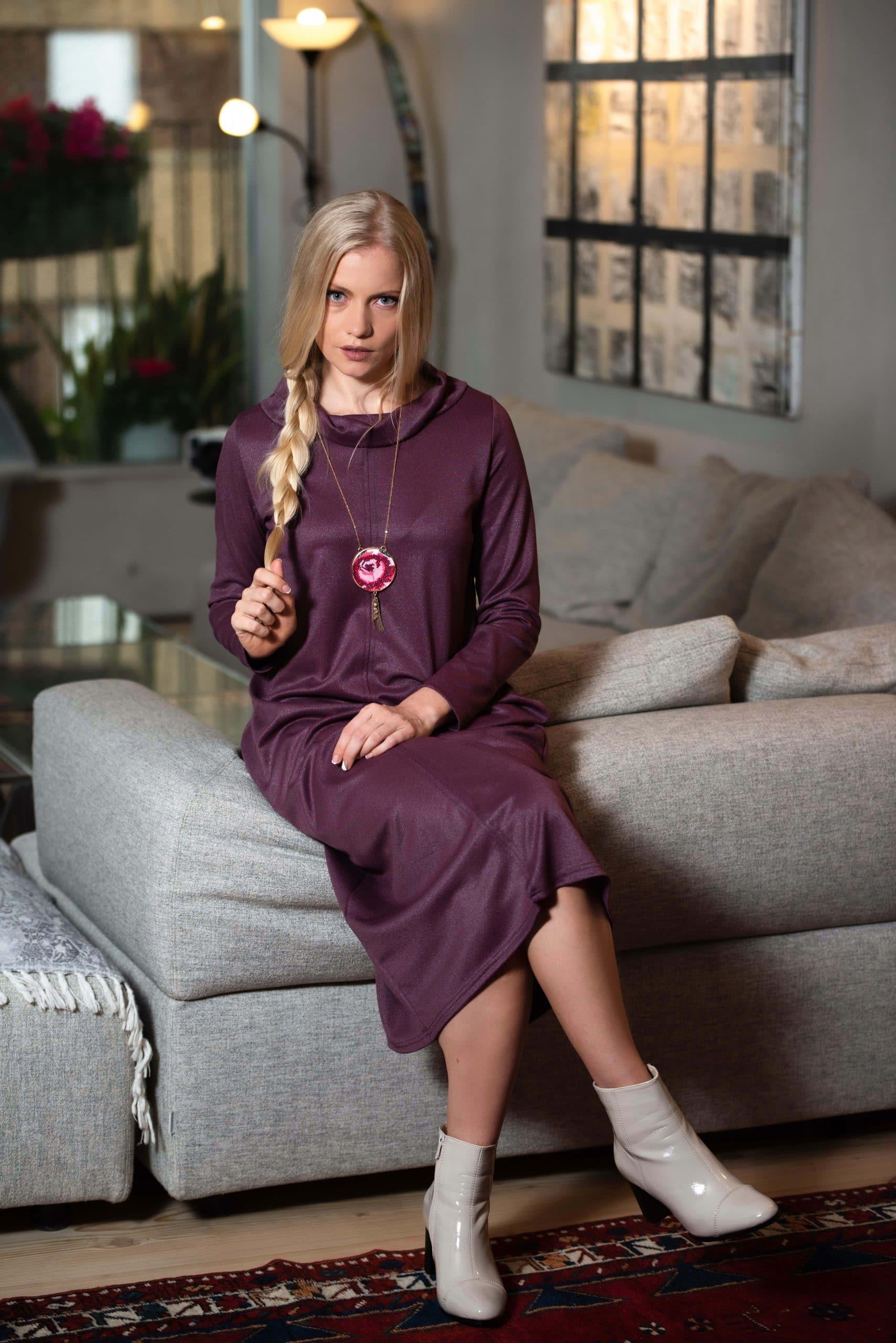 שמלת אדווה - סגול