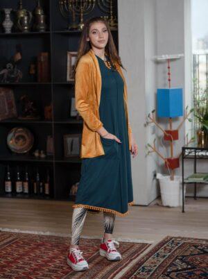 שמלת מעיין - טורקיז