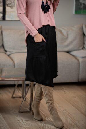חצאית קשת - שחור
